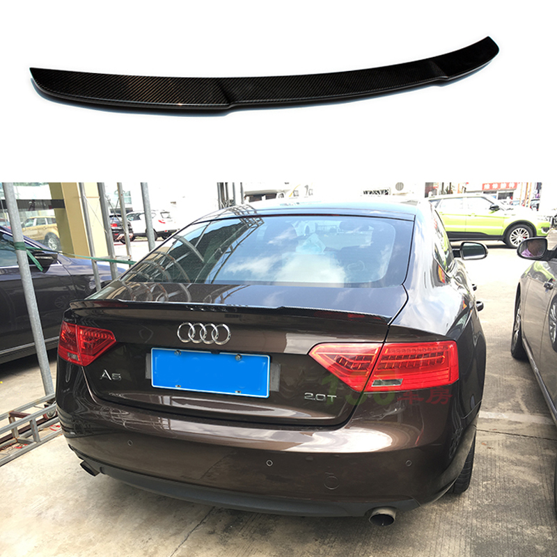 M4 style A5 Carbon Fiber Rear Trunk spoiler wing for Audi A5 4Door 2010-2015