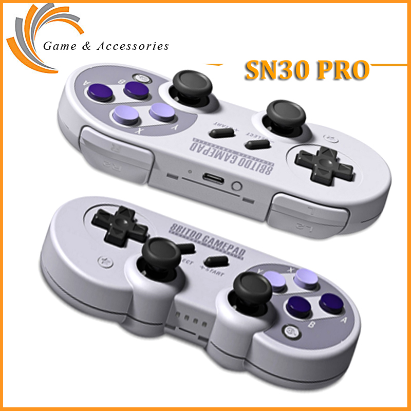 8Bitdo SF30 Pro SN30 Pro Bluetooth Gamepad Wireless Game Controller with Joystick for Windows Android for
