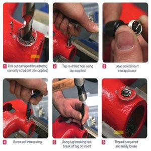 Image 2 - メトリックねじ山修理挿入キットM5 M6 M8 M10 M12 M14ヘリカーproコイルツール粗いクローバ車スタイリング修復ツール