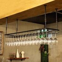 Wrought iron Cup Holder Cabinet Wine Glass Rack Kitchen Dining Bar Goblet Holder Hanger Bar Organization Bar & Wine Tools