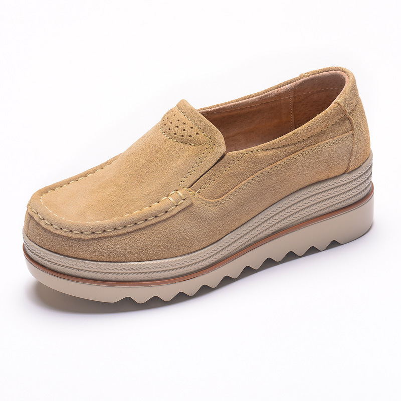 Thick soled Platform Shoes Women 39 s Shoes Comfortable Casual Mother 39 s Rocking Shoes Slip on Loafers Increasing Women Sneakers 2A in Women 39 s Vulcanize Shoes from Shoes