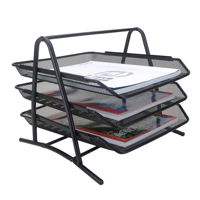 Best 3 Tier File Document Letter Paper Tray Sorter Collection Office  MY41