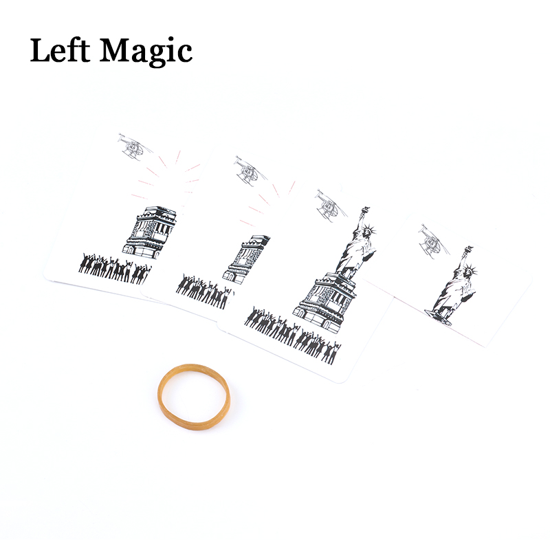 Disappearance Goddess Missing Magic Tricks Close Up Gimmick Props Card Appearing Mentalism Comedy