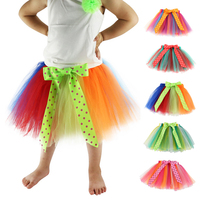 Retail And Wholesale Hot Selling Colorful Handmade Above Knee Girls Tulle TuTu Skirt