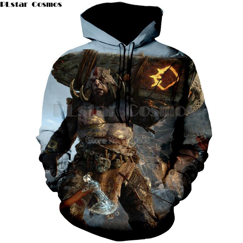 PLstar Cosmos Latest Cool hoodies Sweatshirts 3D Print GOD OF WAR 4 Men/Women long Sleeve  brand clothing hoody