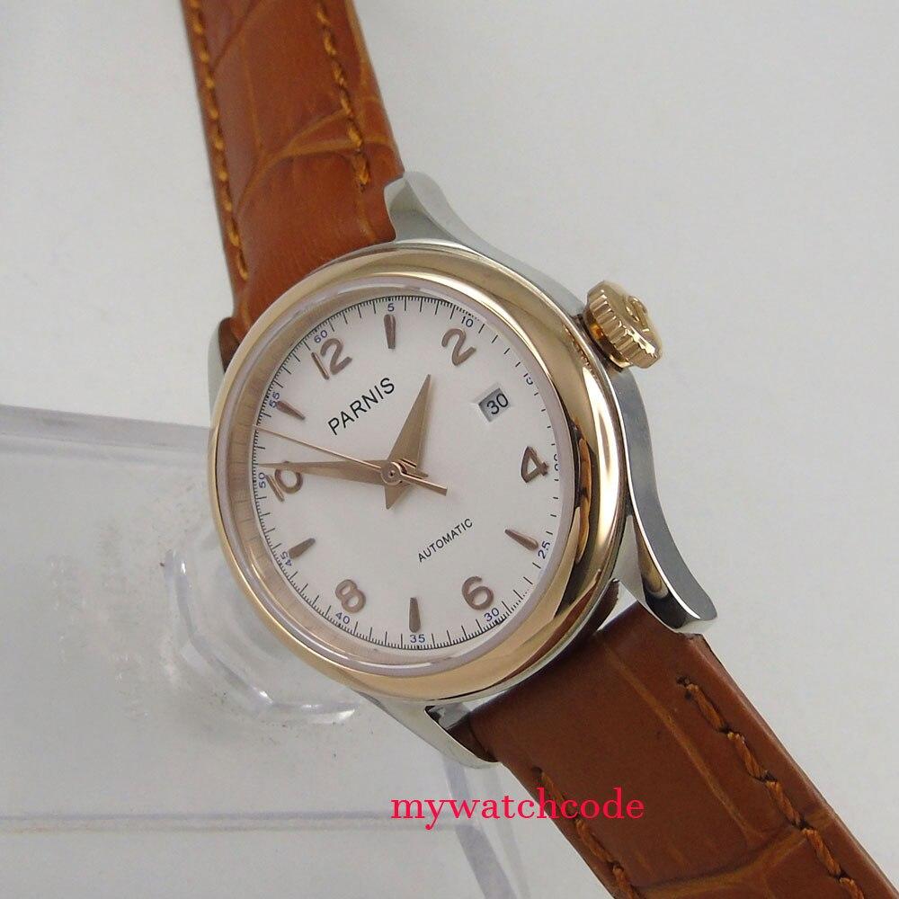 หรูหรา 26 มิลลิเมตร parnis white dial 21 อัญมณี miyota อัตโนมัติผู้หญิงนาฬิกา-ใน นาฬิกาข้อมือกลไก จาก นาฬิกาข้อมือ บน   3