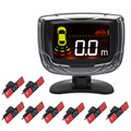 6 Pcs or 8 Pcs Car 13mm Original Flat Parking Sensor With Buzzer LCD Reverse Backup Radar Monitor System 12V 6 Colors