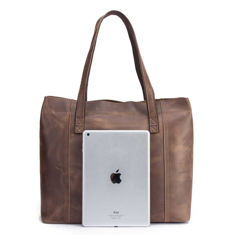 المرأة حقيبة مجنون الحصان المرأة حقائب يد جلدية فاخرة سيدة حقائب اليد مع محفظة جيب المفاتيح حقيبة ساعي حمل كبيرة