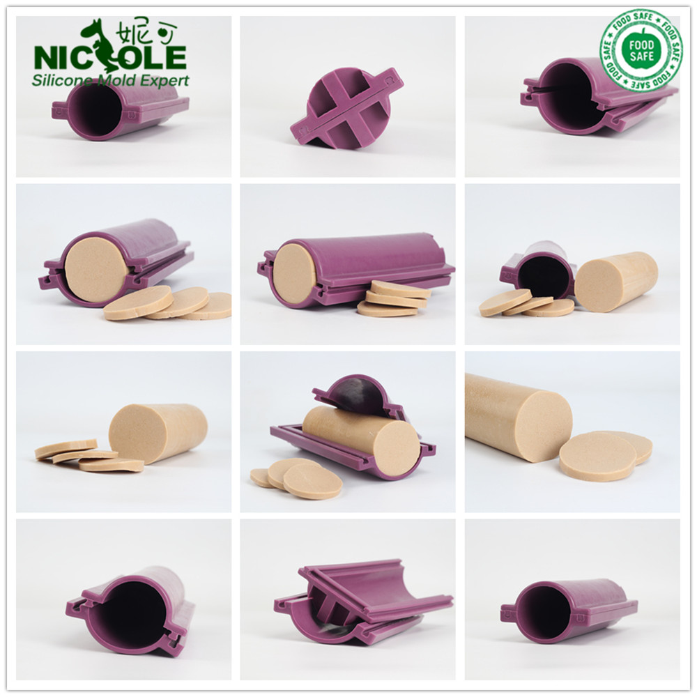 Nicole D0029 Big Round Silicone Soap Pipe Tube Column Mold Diameter 7cm DIY Drawing Tool Circular Silicone Soap Mold