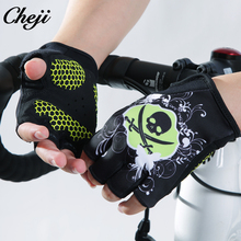 CHEJI Hot Sale Summer Half finger Cycling Gloves Women Pro Racing Bike Gel Palm Lycra Sport Guantes de ciclismo