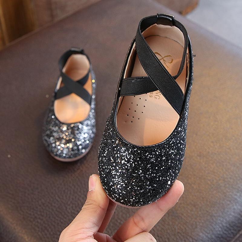 Girls Sparkly Glitter Ballet Flats 4