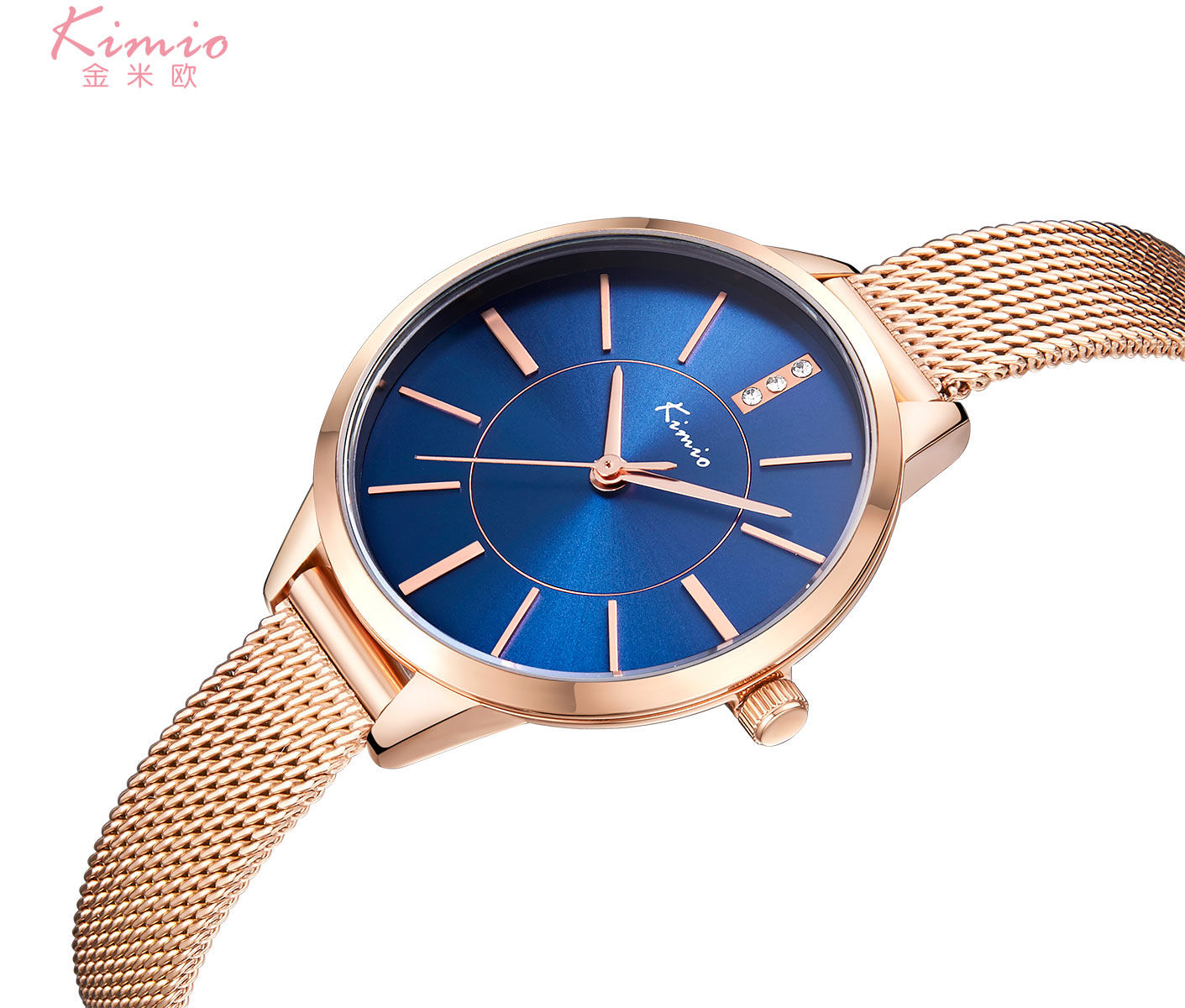 KIMIO Top Brand Designer Simple Women Quartz Bracelet Watches 3D Mesh Milanese Steel Ladies Clock Female Dress Relogio Feminino kimio s k458l
