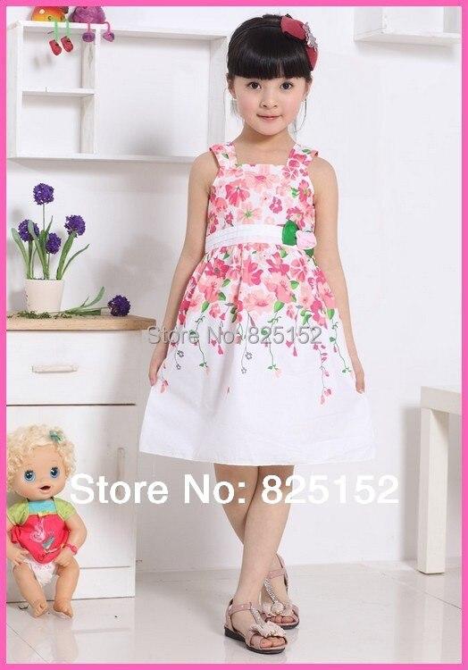 c7fc527990083 Aliexpress.com Acheter Nouvelle mode 2015 fleurs coton fille robe  d u0027été bébé fille robes enfants vêtements enfant fille vêtements robe  de soirée de ...