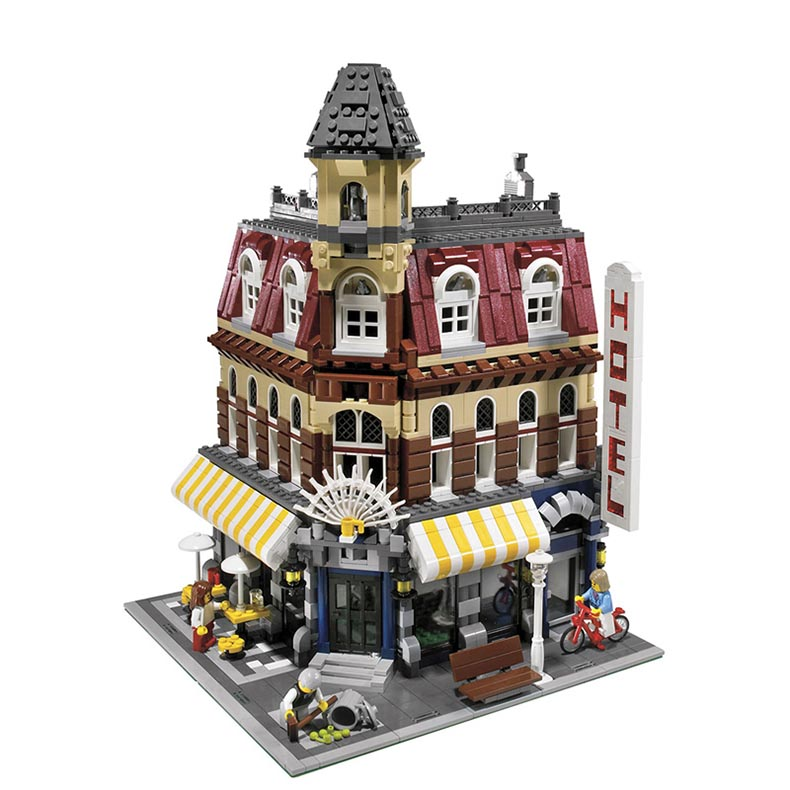 2133Pcs Lepin City Creator 15002 Architecture Creator Cafe Corner Bricks Building Blocks Compatible with a toy a dream lepin 15008 2462pcs city street creator green grocer model building kits blocks bricks compatible 10185