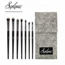 Sylyne набор кистей для макияжа глаз Высокое качество 7 шт. набор кистей для растушевки бровей полный набор кистей для макияжа с сумкой