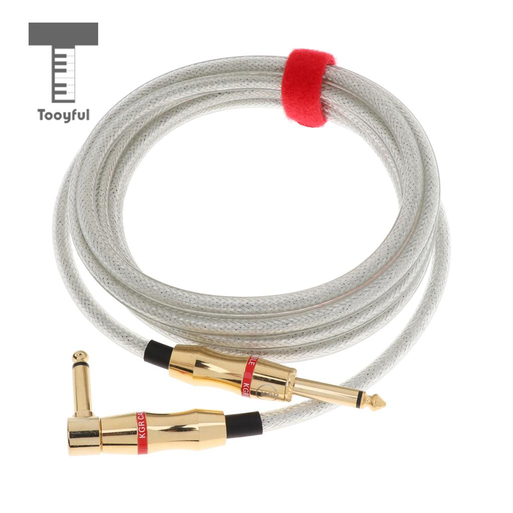 300cm Guitar Cable 1/4inch Straight to Right Angle Instrument Patch Cable Guitar Amplifier Amp Cord