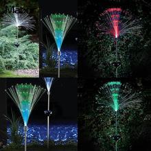 Солнечная лампа волоконно-оптическая RGB меняющий цвет светодиодный садовый светильник, лампа для рождественской вечеринки, светодиодный s Рождественская гирлянда, медная садовая гирлянда Rgb