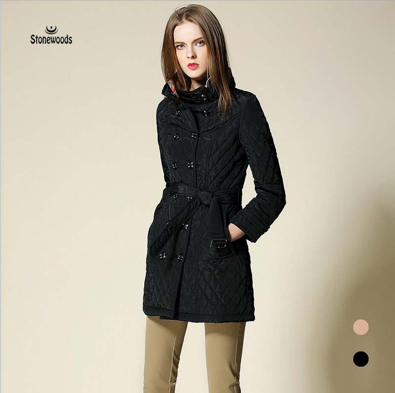 1951b0aaf114c Womens Winter Jackets And Coats Double Breasted Parka European British  Style Plus Size Women Clothing Long Puffer Coat Ukraine-in Parkas from  Women s ...