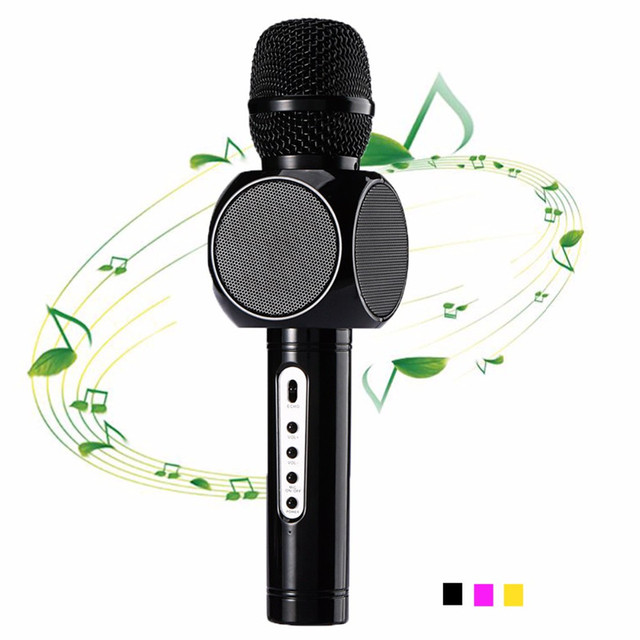 E103 Q9 Wireless mini Microphone Karaoke player Party home KTV Singing Record Bluetooth Speaker For IPhone Android smartphone
