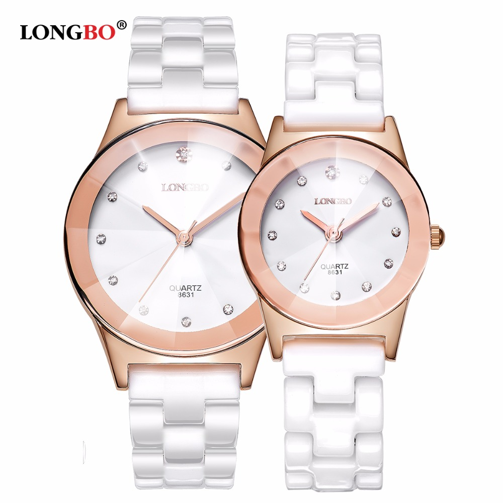 LONGBO Top Brand Fashion Quartz White Ceramic Lovers Watches Luxury Casual Unique Ladies Wristwatch Female Watch 2019