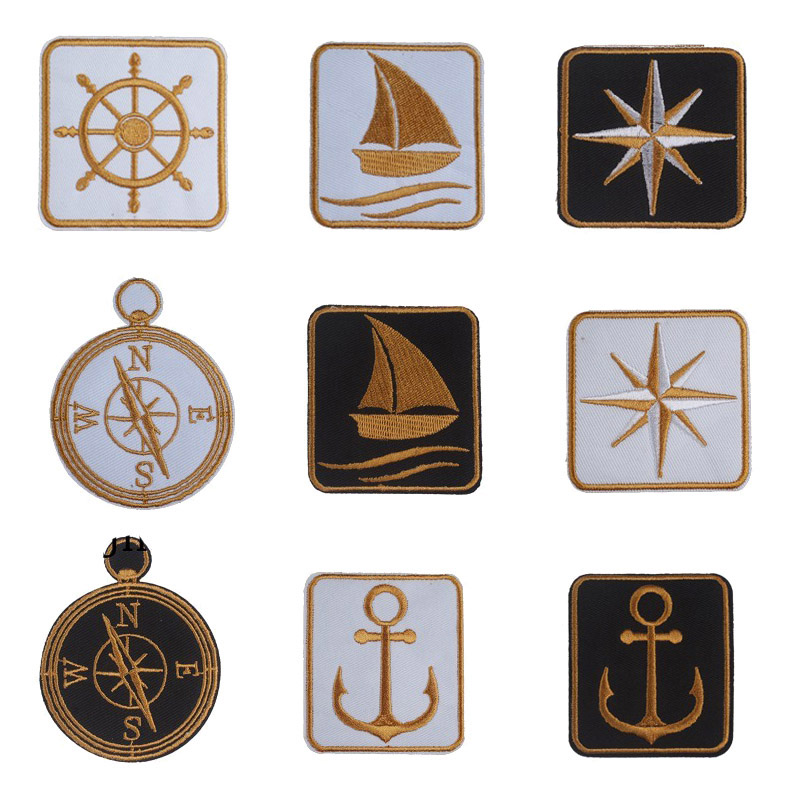 Marine Sailor Ship Anchor Embroidery Applique Patch Sew Iron Badge Iron On