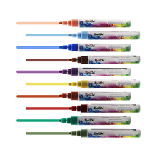 Liquid Chalk Markers for Chalkboards (10 Metal Colors), Non-Toxic, Dustless & Erasable, 6mm Reversible round toe oblique