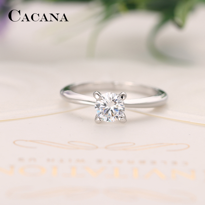 CACANA Cubic Zirconia Rings For Women Trendy Jewelry