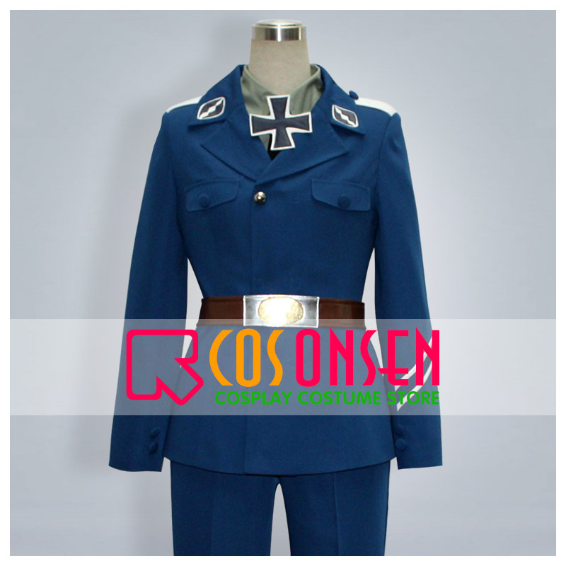 COSPLAYONSEN Hetalia Prussia Cosplay Costume Any Sizes 6 Pcs Set Custom Made