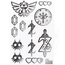 PowerAngel The Legend of Zelda: Breath of the Wild Anime Sticker 3D Metal DIY Sticker For Mobile Phone Laptop Motorcycle