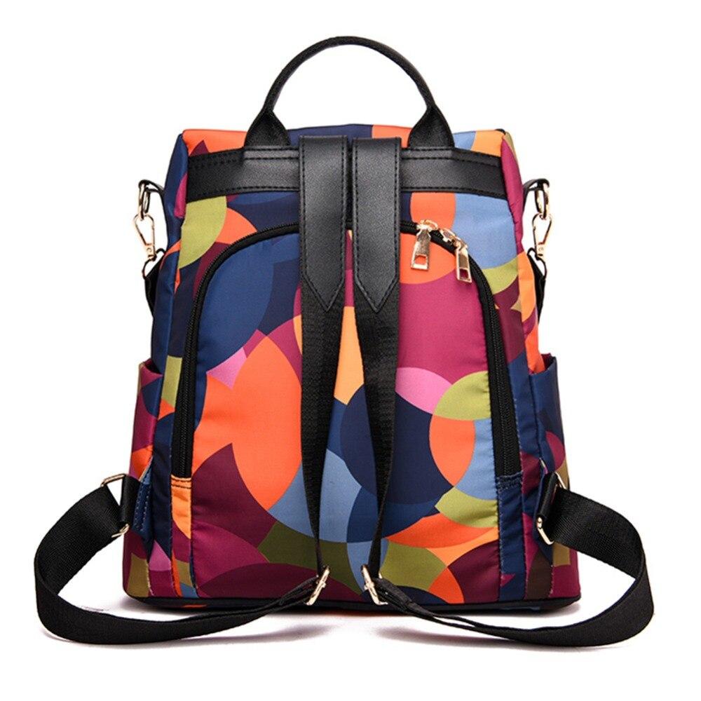 HTB1QaNmbBiE3KVjSZFMq6zQhVXa1 Casual Oxford Cloth Women Backpack Anti Theft Girls Schoolbags Teenager Travel Daypack Shoulder Bag Colorful Fashion Back Pack