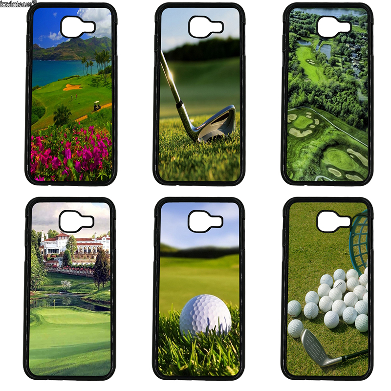 Cell Phone Case Sport Golf Course Hard PC Anti-knock Cover for Samsung Galaxy A3 A5 A7 A8 A9 2016 2017 2018 Note 8 5 4 3 2 Shell