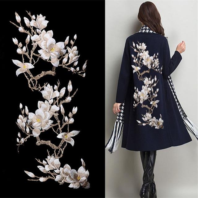 Magnolia Blume Stickerei Große Applique Patch Spitze Stoff Nähen Auf ...