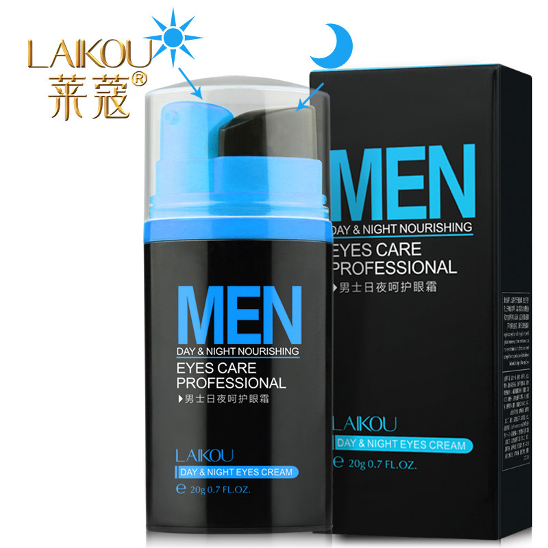 LAIKOU Men Day and Night Anti-wrinkle Firming Eye Cream 20g Skin Care Black Eye Puffiness Fine Lines Wrinkles Face Care Product image