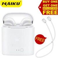 Лидер продаж NAIKU i7s СПЦ мини беспроводной Bluetooth наушники стерео вкладыши гарнитура с зарядным устройством Mic для всех смартфонов