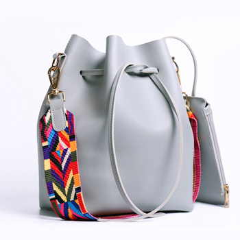 AiiaBestProducts Women Strap Bucket Bag
