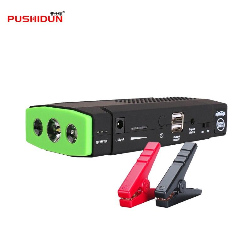 Pushidun Multi-Функция мини Портативный аварийного Батарея Зарядное устройство автомобиля Пусковые устройства 12000 мАч Booster Запасные Аккумуляторы для телефонов пусковое устройство