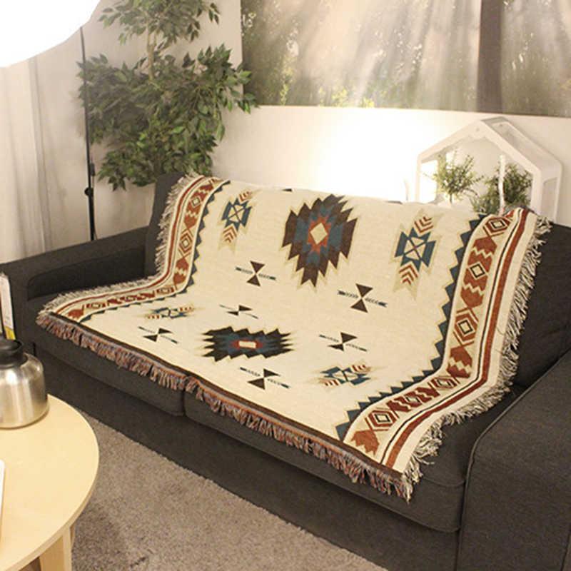 Ковер одеяло Настенное подвесное украшение геометрическое покрывало домашнее Aztec Navajo полотенце Хлопковое одеяло подходящее Брендовое Новое