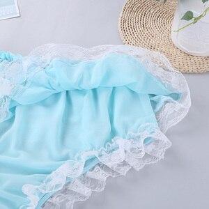 Image 5 - Ensemble Lingerie Sissy pour hommes, haut court avec jupe, en mousseline de soie transparente à volants, vêtements de nuit, culotte Sexy pour hommes