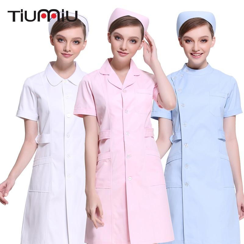 2018 High Quality Nurse Uniform Summer Winter Hospital Medical Beauty Salon Scrub Tops Surgical Scrub Medical Uniforms Long Coat
