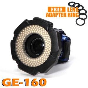 Image 1 - Selens LED video Ring Light 160 Chips Dimmable LED for DSLR DV Camcorder Video 5600K Source Free Lens Adapter Ring Annular Lamp