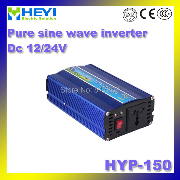 Pure sine wave inverter HYP-150 DC12V/24V inverter 150W 50/60Hz dc ac inverter Soft start with Cooling fan 4000w inverter pure sine wave input 48v 110v hyp 4000 50 60hz soft start power inverter efficiency 90