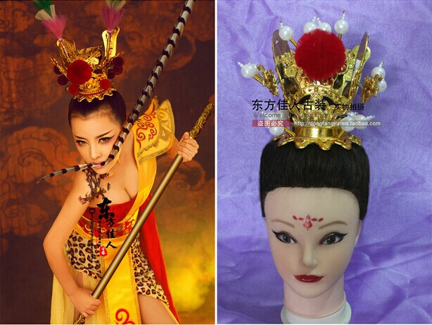 New Design Hair Tiaras Stage Show TV Play Monkey King Opera Headwear a new mglctp 90894 9 6for cube u63 gt u63 cube u63gt touch screen digitizer glass touch panel 224x158mm