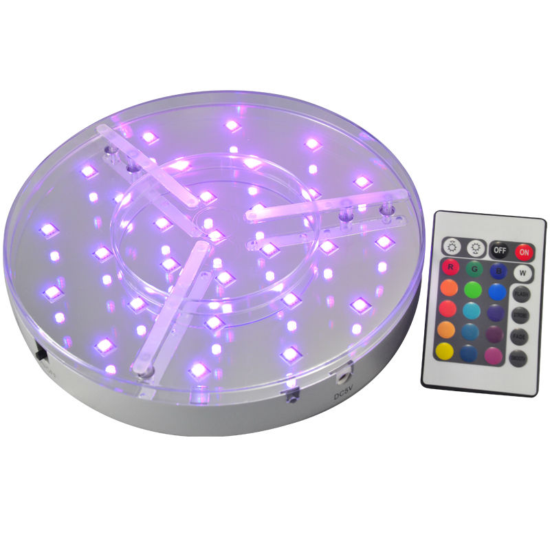 30Pcs*8INCH LED Party Light Base Rechargeable Led Light Base With Remote Control RGB For Party Decoration Vases Bases