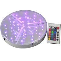 Barato Base de luz LED de fiesta de 30 piezas 8 pulgadas base de luz led recargable