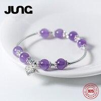 大中新しいファッションチャームかわいいハート紫水晶