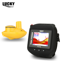 Lucky FF518 Sonar Detection Fishing Watch 180ft 60m Wireless Fish Finder Wrist Watch Waterproof Built In