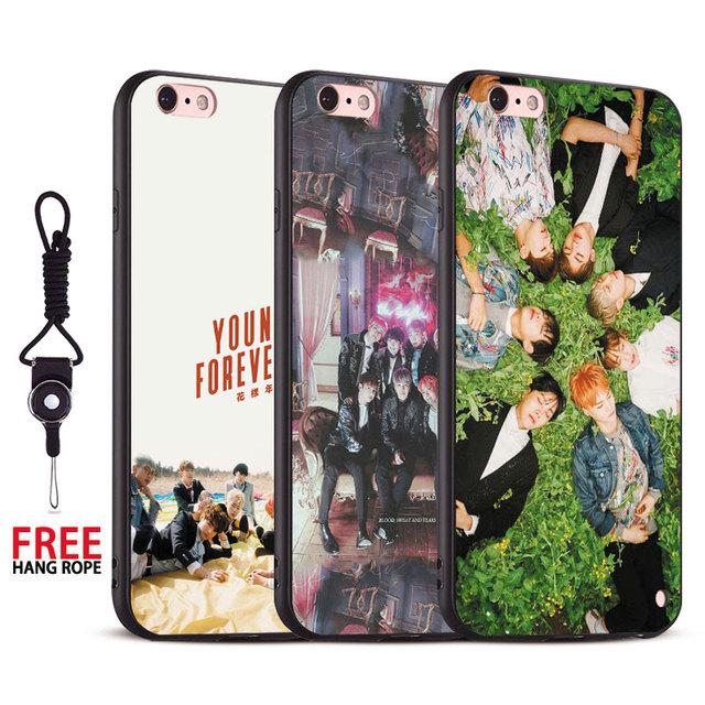 BTS Premium iPhone Case w/ Strap