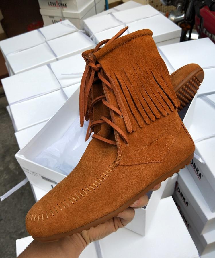 Daim Pic Femme Conception En Cheville Western Chaussures Hiver as Fringe Lace Confortables As Bottes Up Casual Pic Plat Bout Rond 2018 Automne Marée wpBvqP7gxt