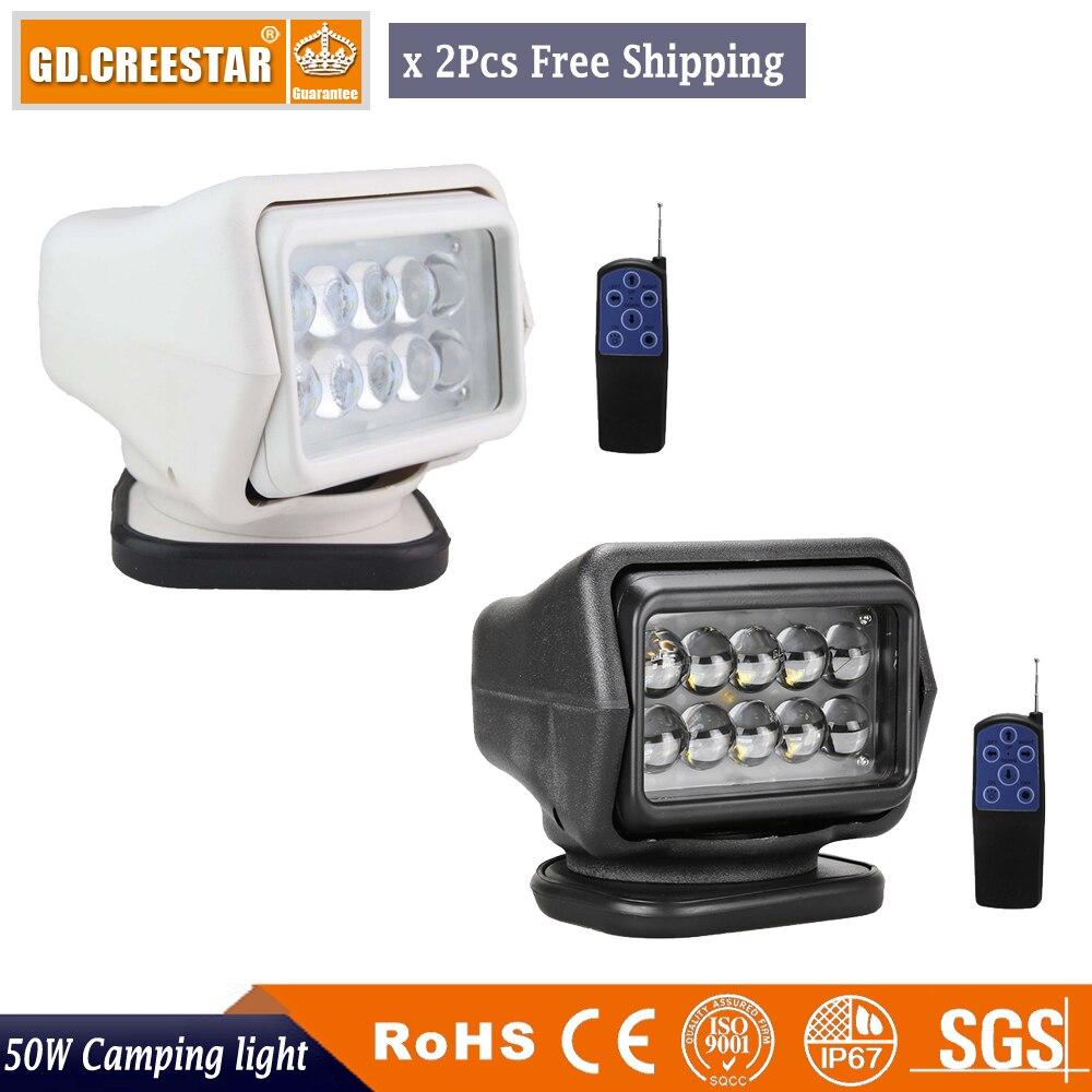 2x 50W Wireless LED Auto Search Spot Light Remote Control Worklight 12V Remote Control Search LED Work Light Magnetic Spotlight