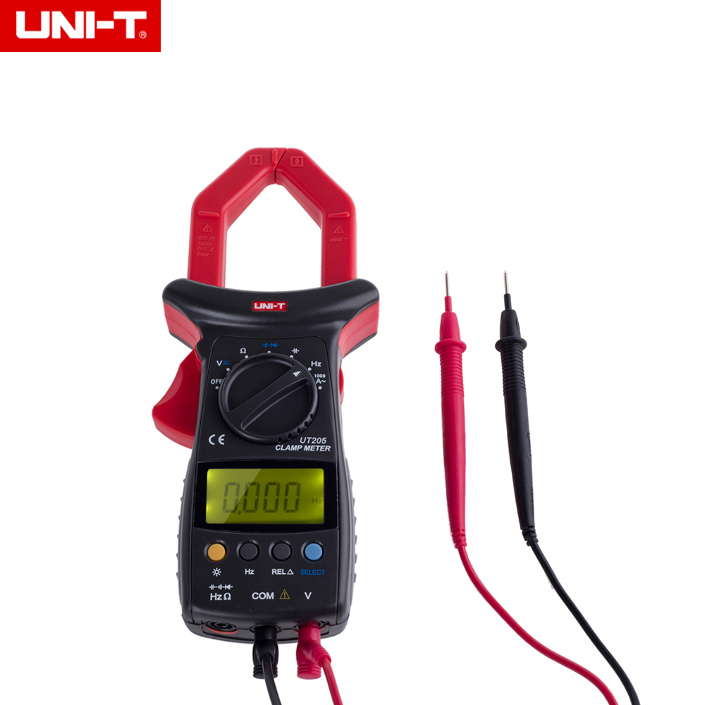 UNI-T UT205 Ture RMS Auto/Manual Range Digital Handheld Clamp Meter Multimeter AC/DC voltage ACA Test Tool mini multimeter holdpeak hp 36c ad dc manual range digital multimeter meter portable digital multimeter